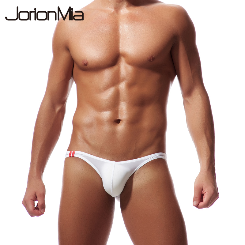 2018 Sexy Men's Briefs Soft Breathable Silk Sexy Underwear Men's Hot Hips Up Transparent Jockstrap Colorful Undies Cueca E-043(China)