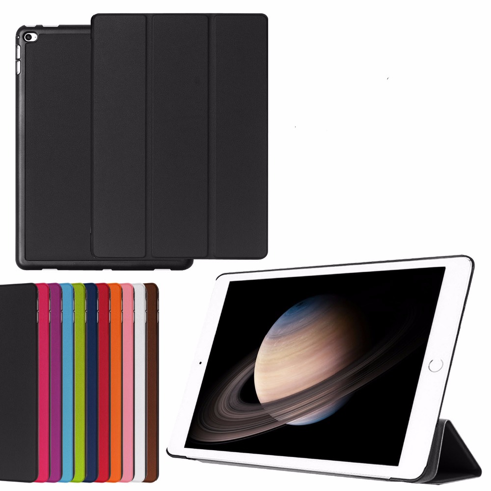 3-Folding Ultra Thin Slim Magnetic Folio Stand Leather Case Smart  Sleeve Cover For Apple iPad Pro 12.9 2015 12.9 Tablet surehin nice smart leather case for apple ipad pro 12 9 cover case sleeve fit 1 2g 2015 2017 year thin magnetic transparent back
