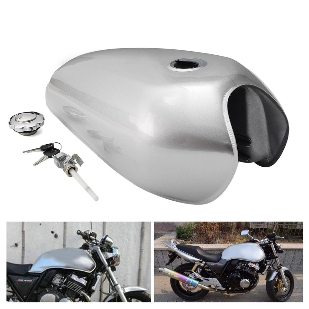Cafe Racer Tank 9L Motorcycle Vintage Fuel Gas Can Retro Petrol Tanks For Honda CG125 CG125S CG250 b5 peda cafe racer tank 12l motorcycle vintage fuel can retro petrol tank for suzuki gs 125 gasoine cans universal high quality