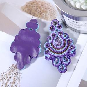 Image 5 - KPacTa Fashion Soutache Earring Ethnic Style Jewelry Women Crystal Handmade Drop Earring Accessories boucle doreille femme 2018