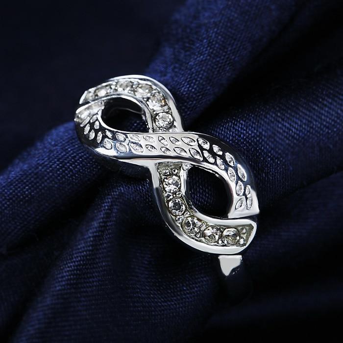Vintage Infinity Stainless Steel Ring
