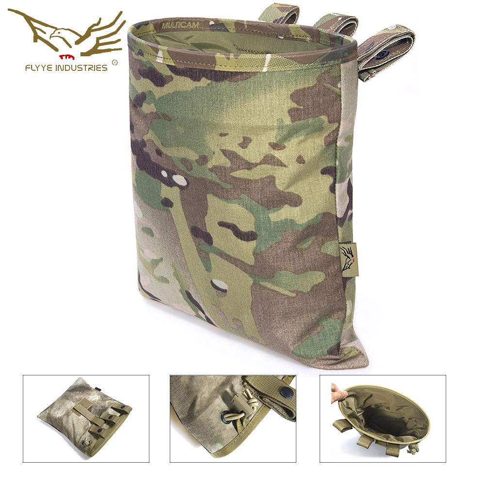 Flyye Magazine Drop Pouch Magazine Recycling Bag Mag Dump Pouch Sundries Tactical Nylon Drop Pouch Airsoft Military Gear PK-M013