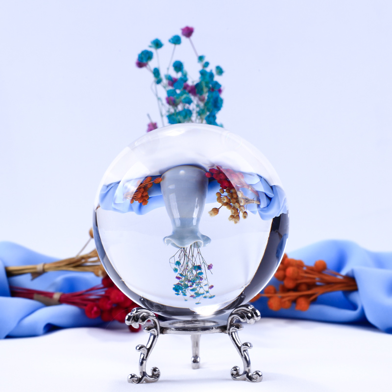 6/7/8cm Photography Magic Crystal Ball Divination Travel Take Photo K9 Crystal Ball Home Decors