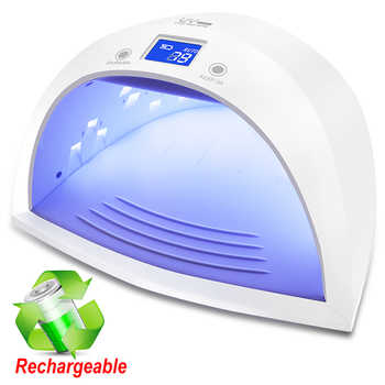 Newest 60W Rechargeable UV LED Lamp 27pcs LEDs Nail dryer Lamp for Curing All Types Nail Gels Polish Convenient to Carry - DISCOUNT ITEM  32 OFF Beauty & Health