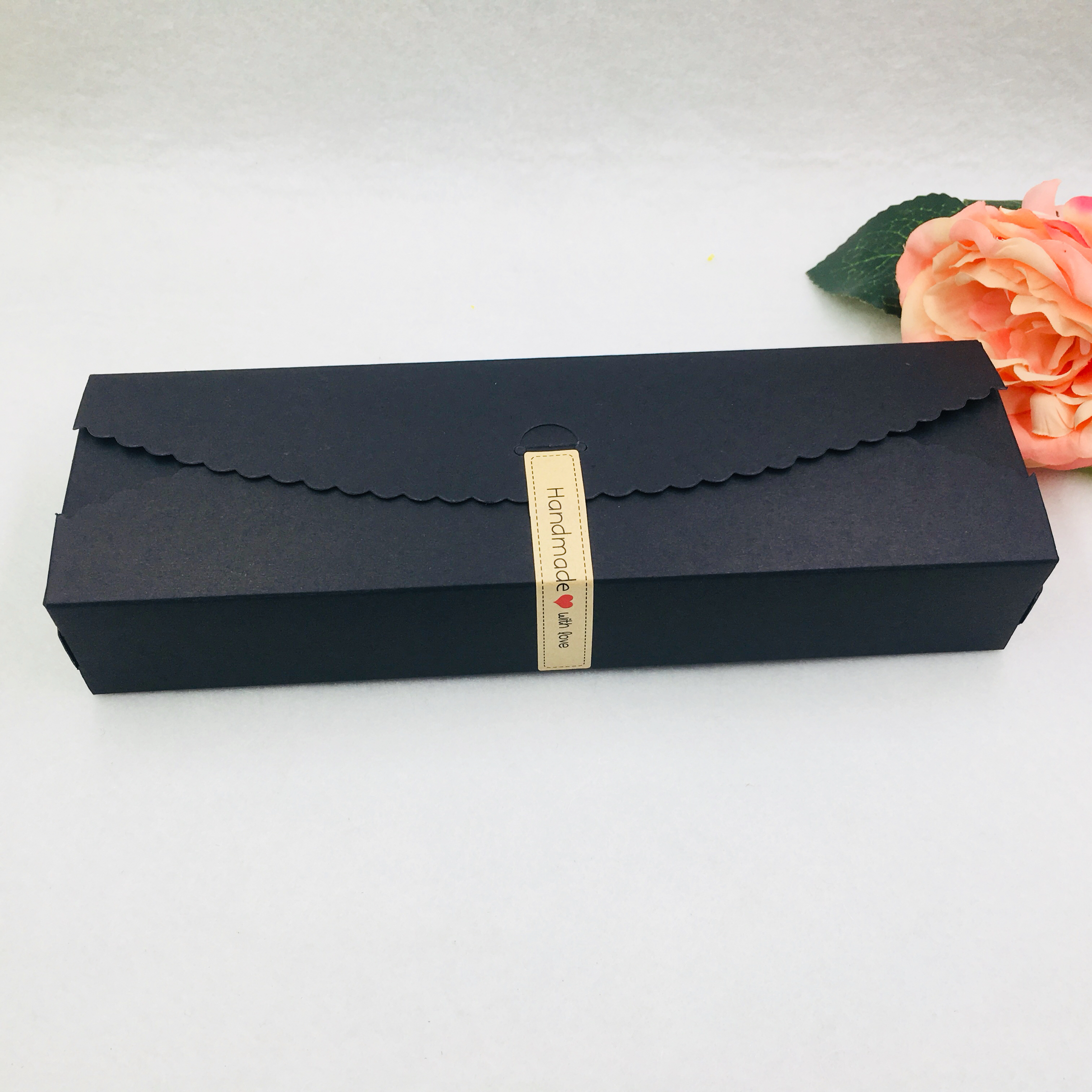 20PCS/Lot 23*7*4cm Paper Kraft Candy Gifts Boxes For Packing Jewelry Handmade Soap Biscuits Chocolate Flower Carrying Case