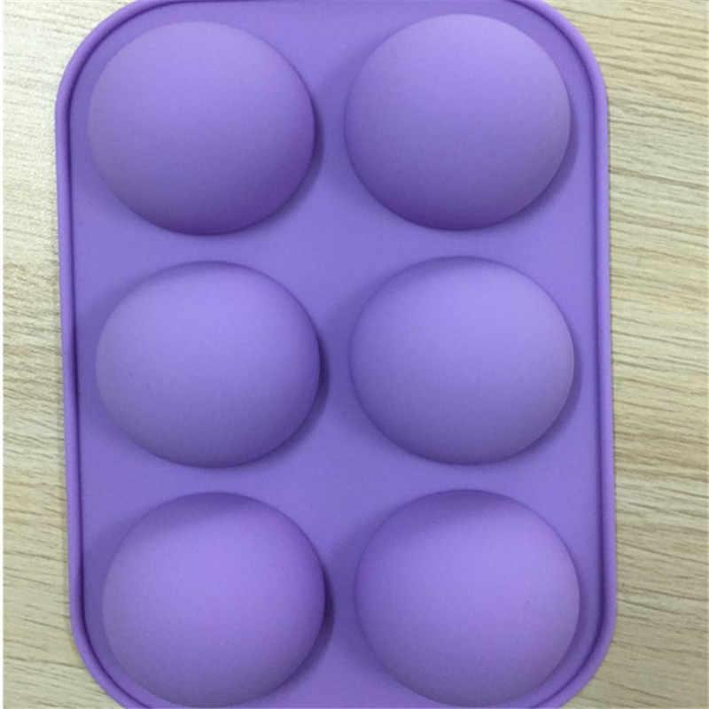 VOGVIGO Новинка 6 отверстий силиконовая форма для выпечки полусферическая форма для шоколада кекса форма для самостоятельного изготовления торта Маффин Жаростойкие приспособления для кухни