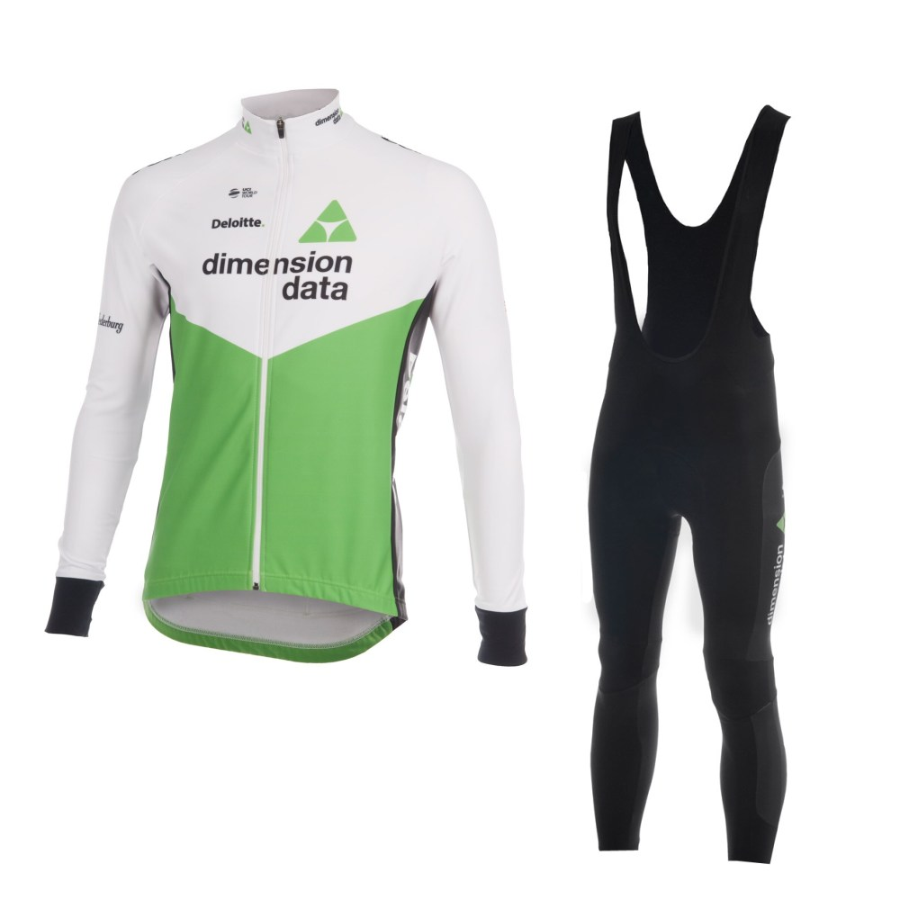 spring autumn 2018 uci pro team green cycling jersey kits long sleeve bike cloth MTB Ropa Ciclismo Bicycle maillot gel pad