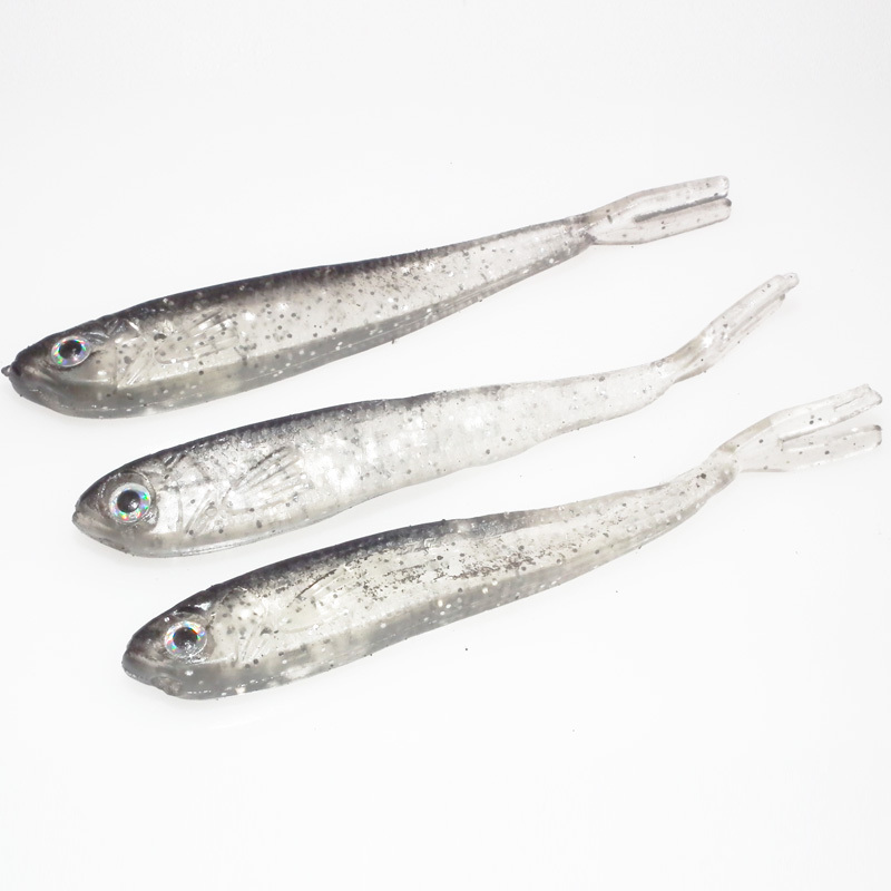 Anmuka 2grams 7cm 10Pcs Artificial Fishing Lure Bionic Fish Soft Bait Fishy Smell Pesca Fishing Tackle Lures
