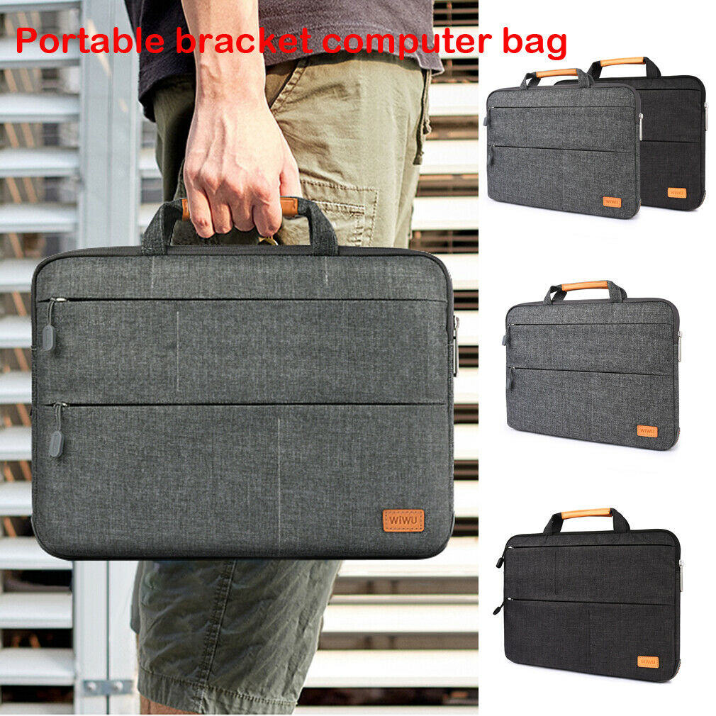 Unisex Solid Waterproof <font><b>Laptop</b></font> Computer Bag Breifcase Sleeve Case Bag Dell HP 11/13/15/In image