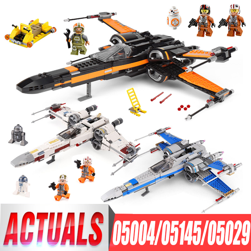 Lepin 05004 First Order Poe's X Wing Fighter 05029 05145 Star Building Blocks Brick Children Toy Wars LegoIGs 10262 75149 75102 цена