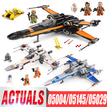 Lepin 05004 First Order Poe's X Wing Fighter 05029 05145 Star Building Blocks Brick Children Toy Wars LegoIGs 10262 75149 75102(China)