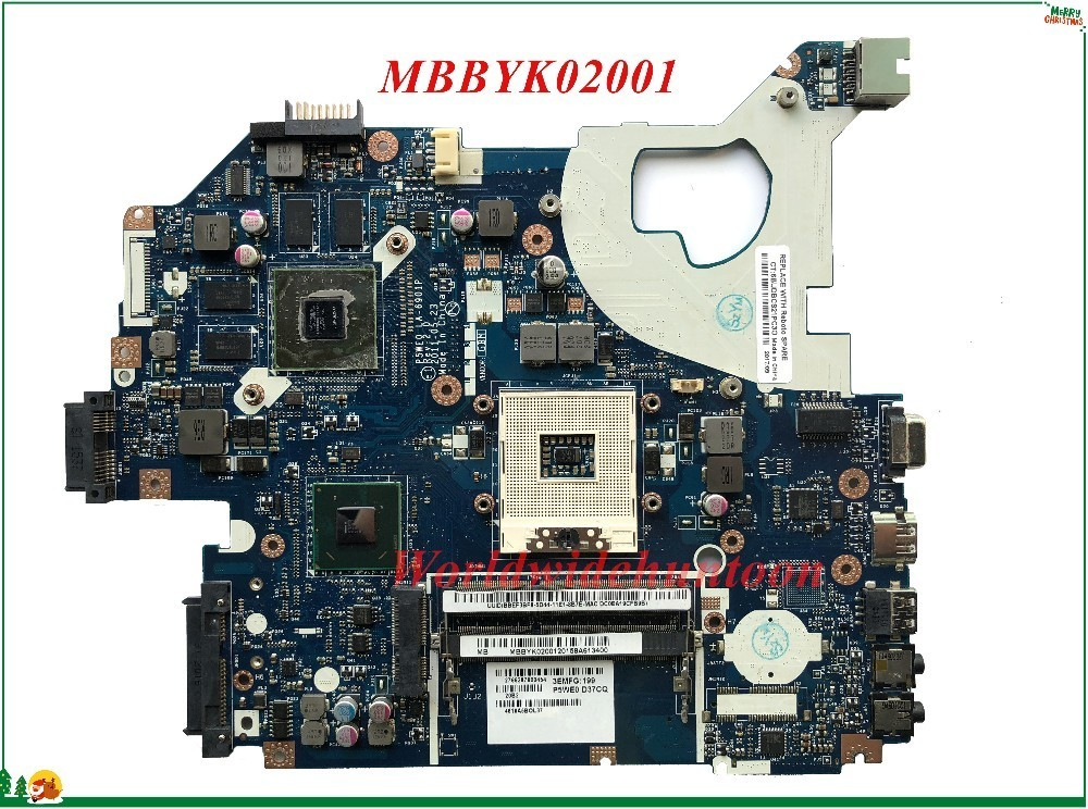 High Quality Mb Mbbyk02001 For Acer Aspire 5750 5750g 5755g Laptop Motherboard P5we0 La 6901p