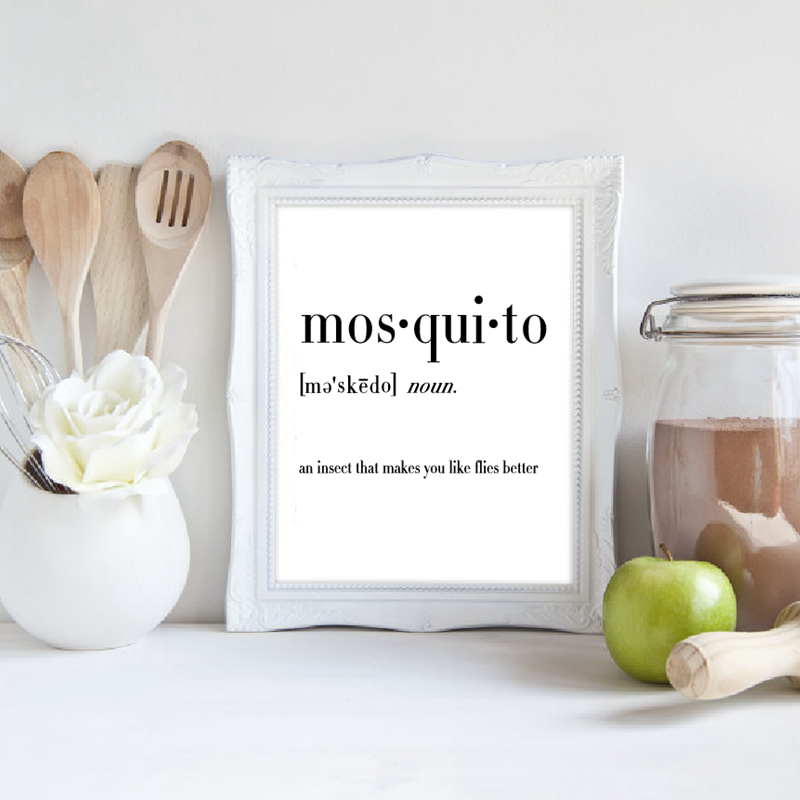 mosquito canvas painting