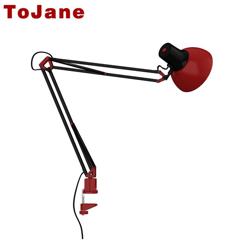 ToJane Schreibtischlampe Flexiblen Led Lampe Büro Führte Tischleuchte Metall Architekten Verstellbare Falten Leselicht TG600