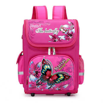 New Girls School Backpack 3D Cartoon Orthopedic Primary School Bags Girls 6-10 Years Children Bookbag Kids Satchel Knapsack Girl - Category 🛒 Luggage & Bags