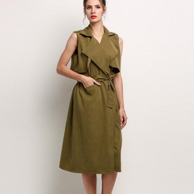 Fashion New Women long vest coat sleeveless jacket back outwear casual autumn cardigan top Roupa Female 41