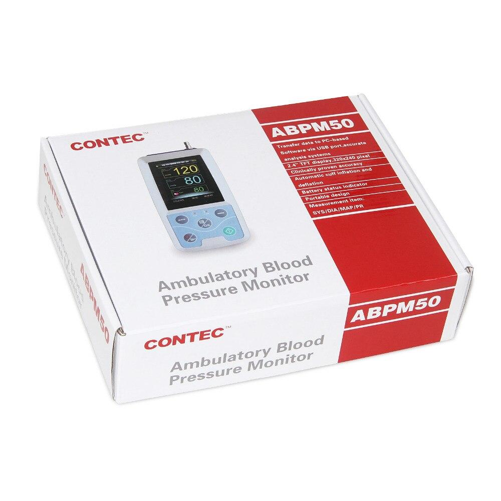 ABPM50 24 heures de moniteur de tension artérielle ambulatoire Holter ABPM Holter BP moniteur avec logiciel contec - 3