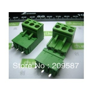 10pcs Block Terminal Wire Connectors 2EDG 5.08-2P 90 Degree
