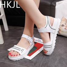 HKJL Fashion Female summer with anti-skid all-in-one female sandals 2019 Korean version new flat student A217