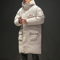 Man Hip Hop Winter Warm Parkas Jacket Hooded High Street Thicken Padded Long Jackets Male Russian Coats Drop Shipping Streetwear