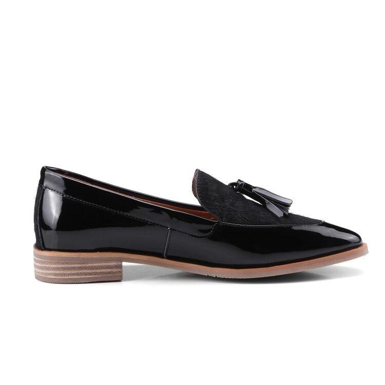 Borla Tinto De Negro 2019 Zapatos Puntiagudo Pie Del Cómodos Mujeres Casuales Mujer vino Zorssar Pisos Negro Slip En Nueva Las Dedo Moda Oxford Para 4qtnSnFgw