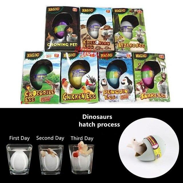 Dinosaur Hatch Egg Simulation Real Grow Jurassic Dino Magic Creative Toy Pet Snake Lizard Hot Kids Children Educational Toys