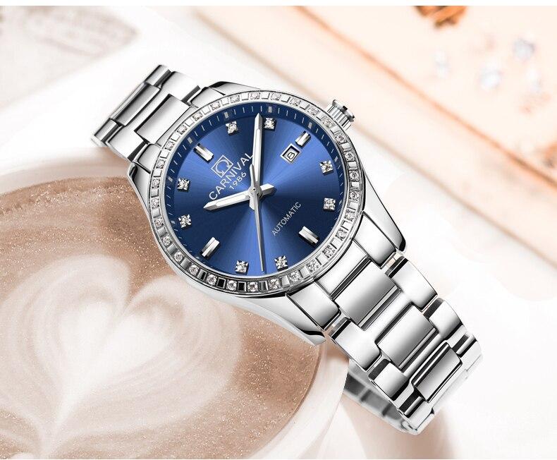 Automáticos Relógio de Diamantes Mulheres Senhoras Relógio