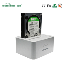1pc hdd housing box 2 bay 4 TB per sata SATA II SATA III usb 3.0 2.5 3.5 enclosure hdd ssd docking station for hard disk