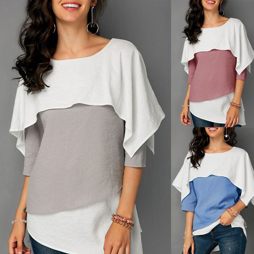 Autumn New Fashion Women Tops Women's Loose Crew