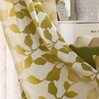 European Style Jacquard Blackou Curtains Living Room Decoration Window Curtain Bedroom Best Luxurious Yellow Leaves Curtains