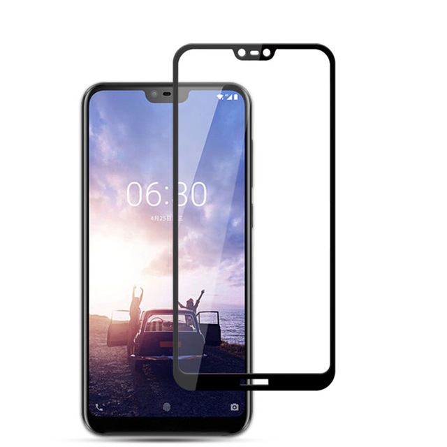3D Tempered Glass For Nokia X6 2018 Full Cover 9H