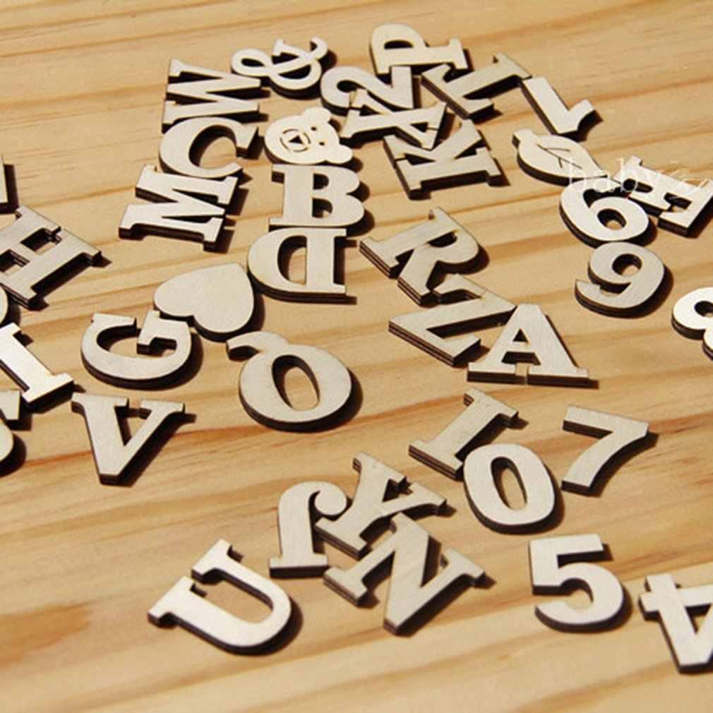 خشبية DIY ملصقات الرقمية 0-9 أرقام 10 قطعة/الحزمة وازم اليومية الصحية و الجمال منتجات العناية الشخصية