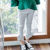 Kseniya Kids Girls Fashion Korean Children S Pants 2018 Spring New Korean White Lotus Leaf Pants