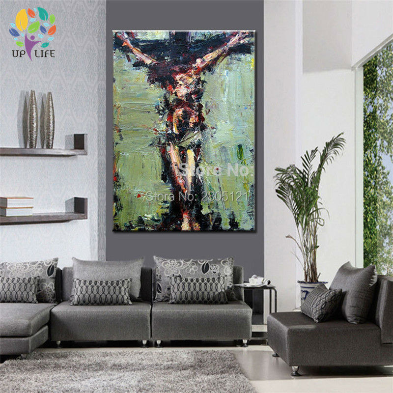 tangan dicat dinding lukisan Krismas lukisan minyak Jesus Hari Paskah - Hiasan rumah - Foto 3
