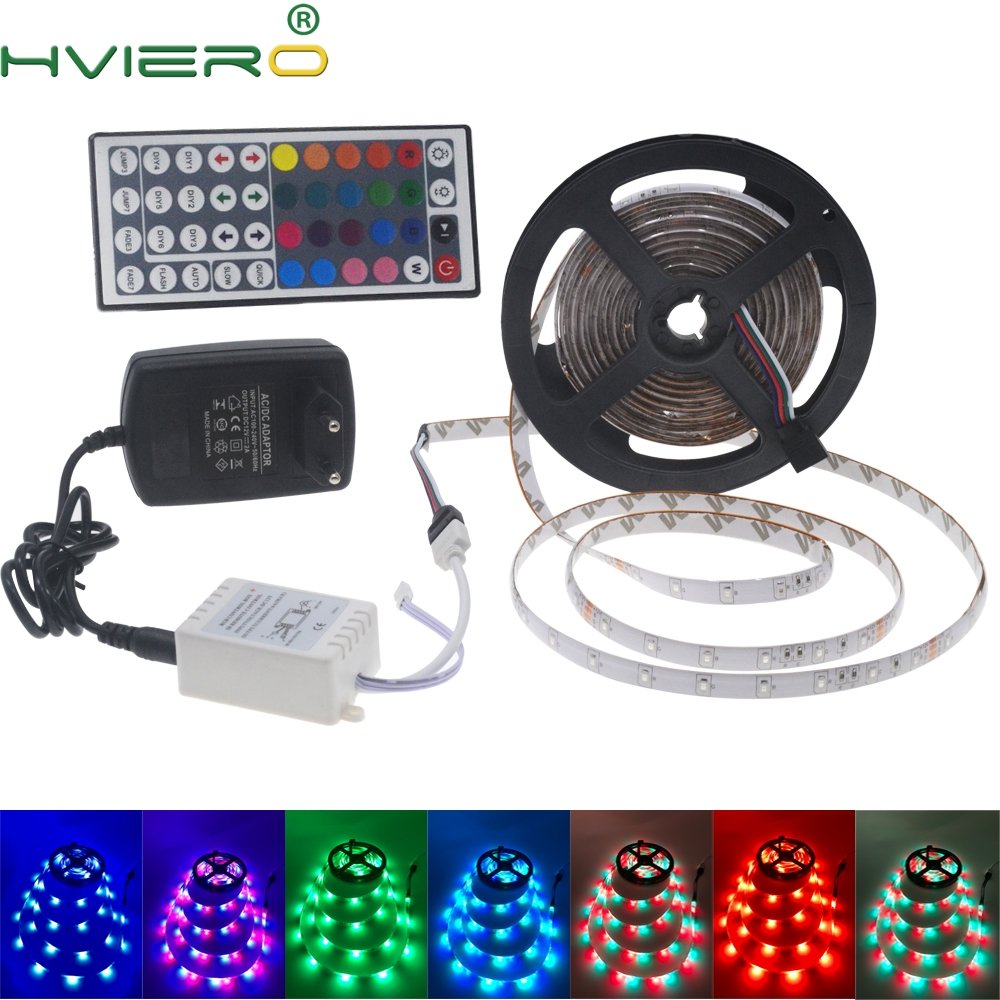 5M 2835 300Led Led Strip IP65 Vattentät RGB Light DC 12V Flexibel Lighting String Heminredning Lampa Ribbon Bordslampa Lampa