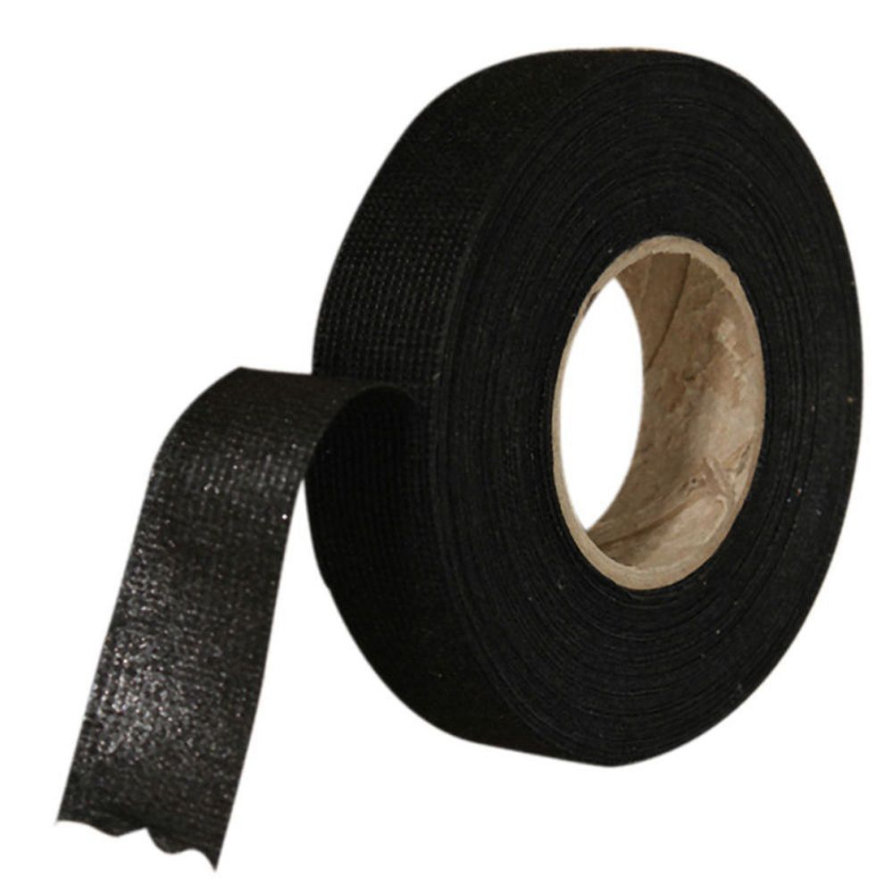 small resolution of 1pc automotive wiring harness tape strong adhesive cloth fabric tape for looms cars 19mm x 15m