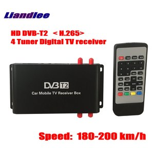 Liandlee for germany DVB-T2 (h.265) 4 튜너 자동차 디지털 tv 수신기 D-TV 모바일 tv 박스 안테나 MPEG-4/모델 DVB-T2-M-688-H265