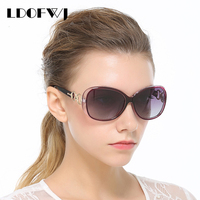 LDOFWJ Retaining Ring Design Sunglasses Woman Sun Glasses Fashion Polarized Brand Designer Women Sunglasses Luxury Women