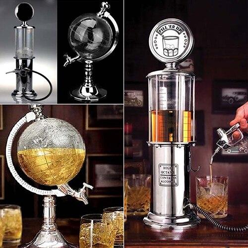 Globe Style Nouveauté Remplir Gaz Pompe Bar Potable Alcool Liqueur Distributeur
