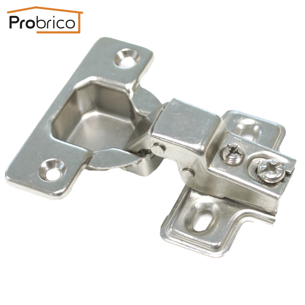 Probrico 1 PCS CHH48GB 95 Degree Clip on Door Concealed Half Overlay Furniture font b Kitchen