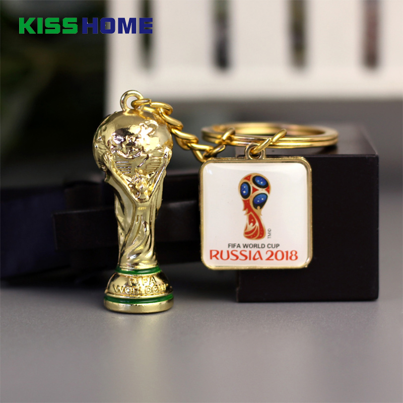 2018 Soccer World Cup National Team Logo Keychains Creative Car Key Rings Silicone Pendant Keyring Fans Gifts For Couple