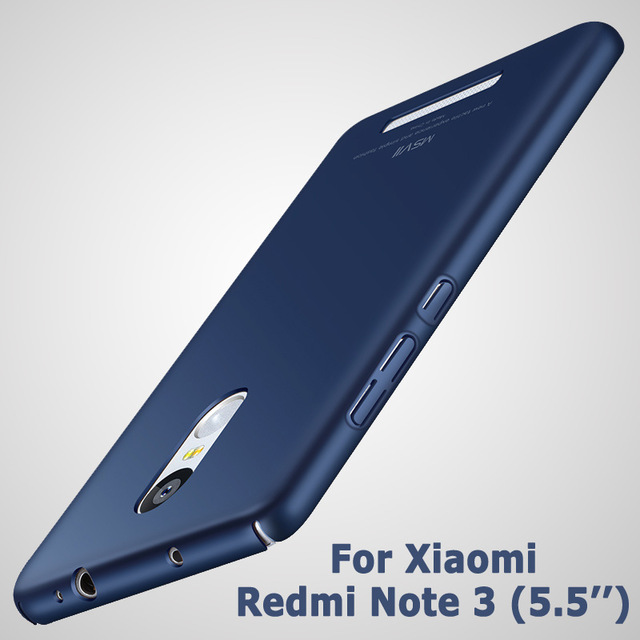 ae098579836 MSVII Xiaomi Redmi Note 3 Case Xiaomi redmi note 3 pro prime casehard PC Back  cover For xiomi redmi note 3 cases scrub cove 5.5