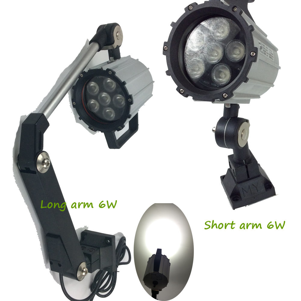 New 220-240V 120V DC24V 6W CNC Machine Work Light Short Arm Long Arm Foldable IP65 Waterproof cnc foldable