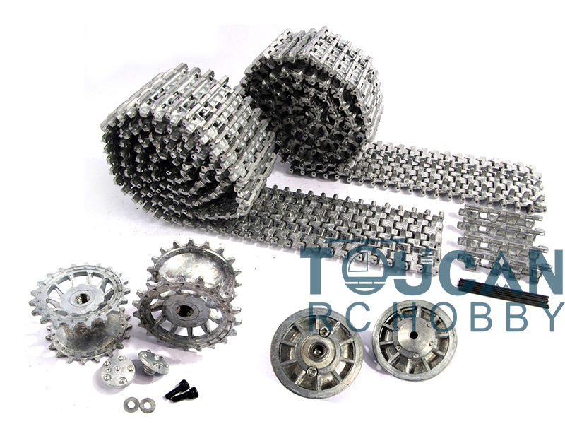 Mato 1/16 HengLong Tiger I RC Tank Metal Tracks Sprockets Idler Wheels W/ Bearings MT001 mato sherman tracks 1 16 1 16 t74 metal tracks