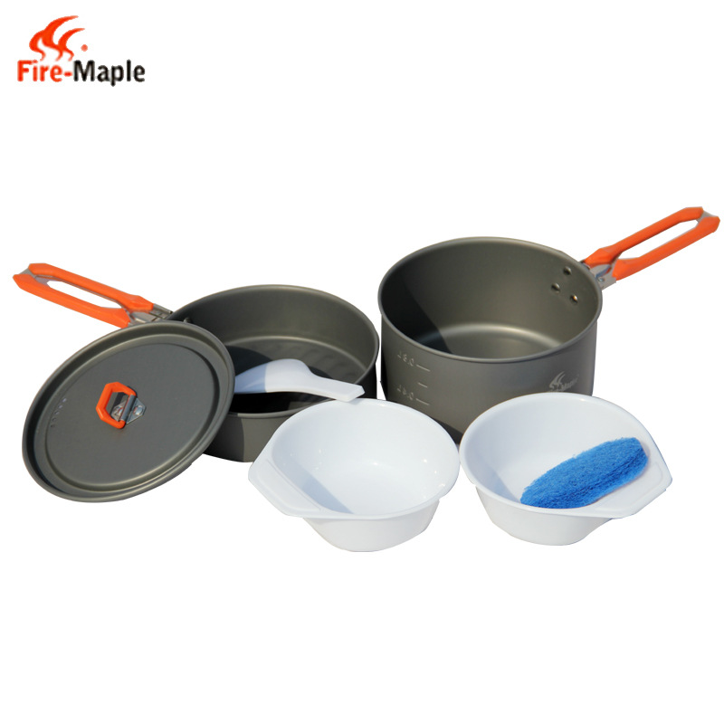 ФОТО Fire Maple Outdoor Travel Camping Picnic Cookware 1-2 Persons Portable Skillet Folding Lever Pot