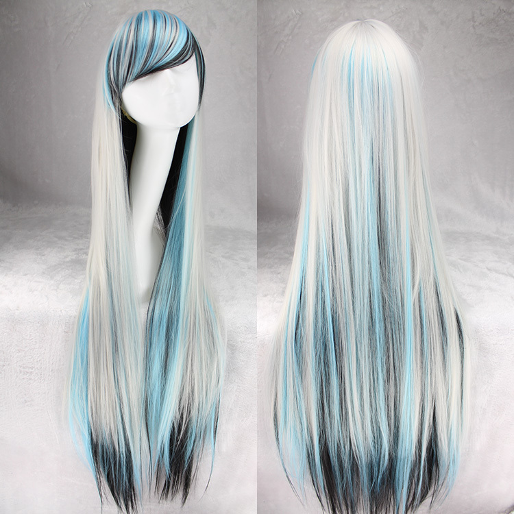 100 Cm Harajuku Anime Cosplay Wig Women Long Straight Heat resistant  Synthetic Hair White Black Blue Ombre Wigs Peruca Perucas on Aliexpress.com   6e9d9179eb