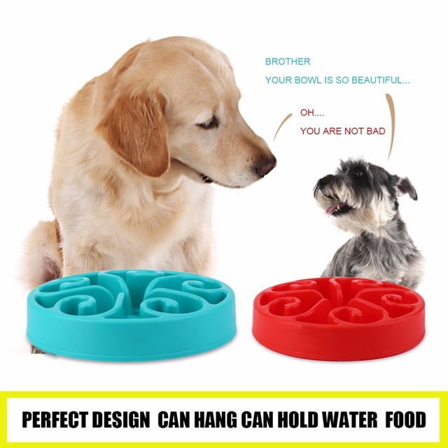 4 Colors Portable Size Healthy Food Bowl Slow Eating Anti-Choking Anti Choke Dog Cat Pets Feeder Bowl Home Pet Accessories