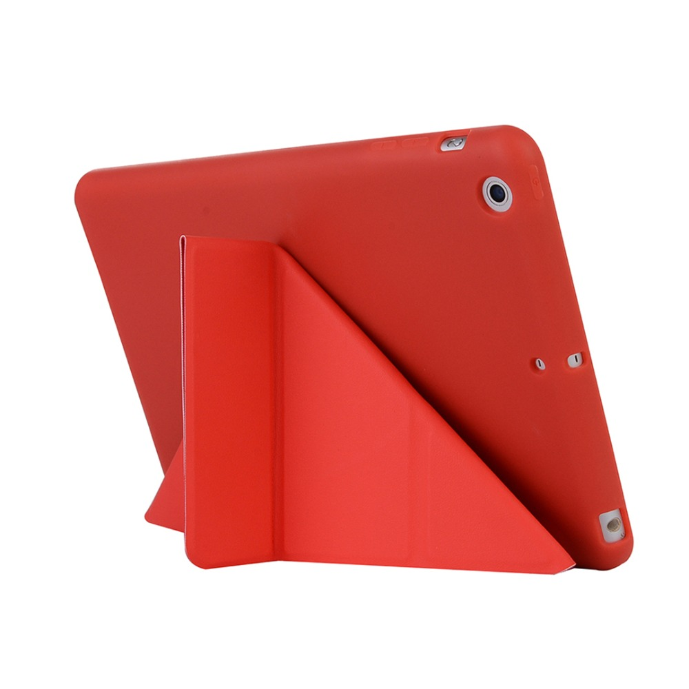 For iPad Mini2/3 / Mini 2 / 3 High-quality case Cover Deformation Smart Slim Magnetic TPU Leather Stand Cases + Film + Stylus