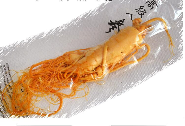Changbai Fresh Ginseng Root 150g top Grade Vacuum Pack Panax ginseng Root 8 Years Old Herbal skin care beauty use