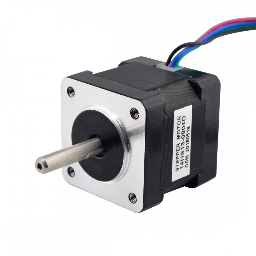 Dual Shaft Nema 14 Stepper Motor 4 Leads 34mm 1.8deg 18Ncm(25.56oz.in) 0.8A Step Motor for CNC 3D PrinterDual Shaft Nema 14 Stepper Motor 4 Leads 34mm 1.8deg 18Ncm(25.56oz.in) 0.8A Step Motor for CNC 3D Printer
